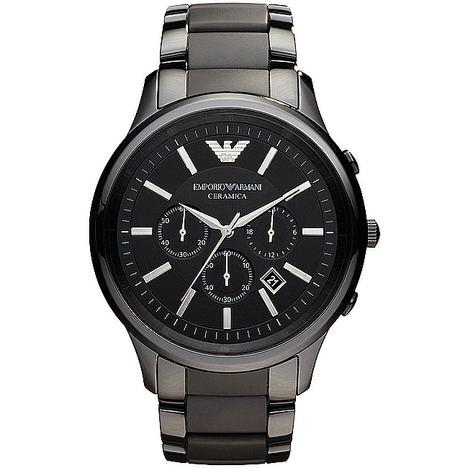 Reloj Cronógrafo de cerámica color Negro.