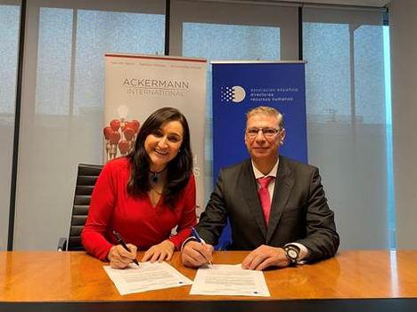 Ackermann International renueva el patrocinio de la Asociación Española de Directores de Recursos Humanos
