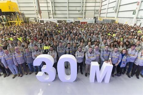 30 millones de motores producidos en la factoría de Renault en Valladolid