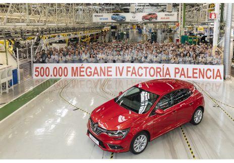 La factoría de Renault en Palencia produce el Mégane 500.000