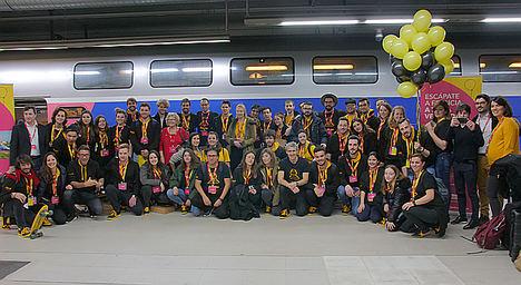 Imagine Express reunirá a 24 participantes de 9 países destino París a bordo de un tren internacional de alta velocidad de Renfe- SNCF en Cooperación