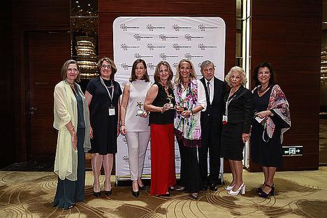 Representantes españolas en los premios IWEC 2018.