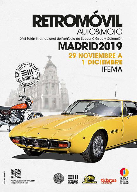 Retromóvil Madrid ampliará las actividades para aficionados en su 17ª edición, prevista para el último fin de semana de noviembre