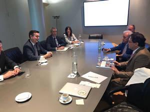 Reunión con directivos del IFEMA y FITUR de Madrid.