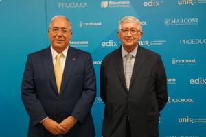Roberto Fernández, expresidente de la CRUE, y Rafael Puyol, presidente de UNIR.