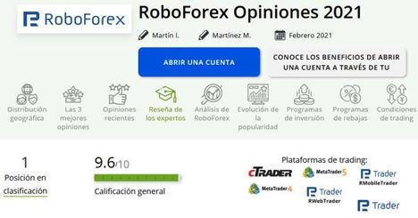 RoboForex: una breve descripción de las capacidades de la empresa y una selección de comentarios al respecto