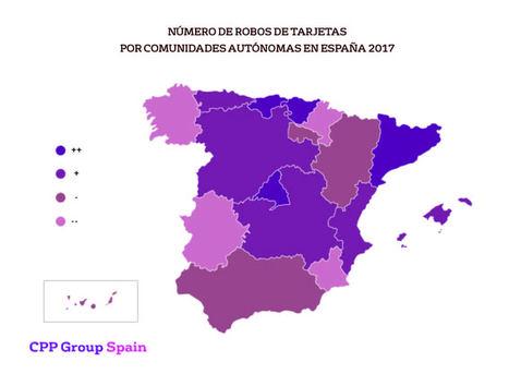 El número de robos de tarjetas disminuye un 4% en España en el primer cuatrimestre de 2018