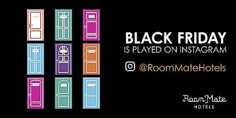 Room Mate lanza su campaña #RMBlackFriday en Instagram y regala noches de hotel y cientos de descuentos