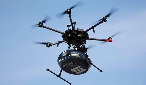Drones: el volante que llega del cielo
