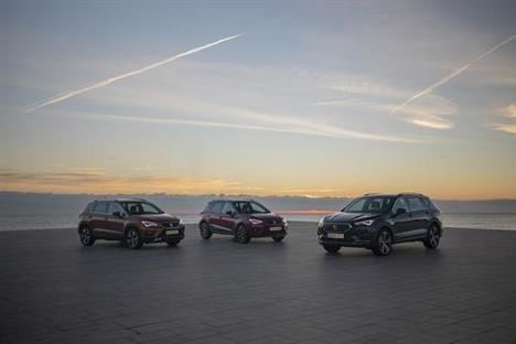 Los tres SUV de SEAT ruedan juntos por primera vez