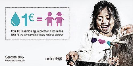 Sercotel lucha por el acceso al agua de todos los niños aliándose con UNICEF