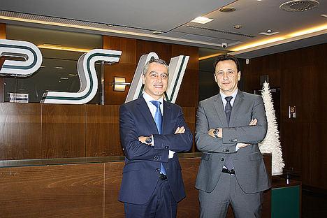 Salvador Salame, director territorial de Cataluña, y Roberto Feito, director territorial de Madrid.