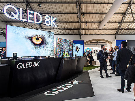 Samsung muestra su gama completa de televisores QLED 2019 en el Euroforum de Portugal