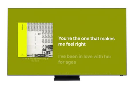 Apple Music Time-Synced Lyrics llega a los Smart TV de Samsung