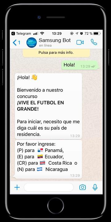 Samsung lanza su primer chatbot promocional en WhatsApp