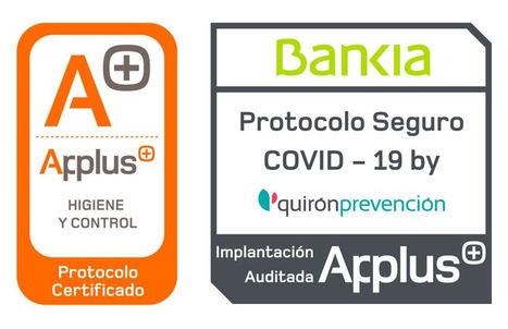 Bankia, primera entidad financiera en obtener la certificación de protocolo seguro Covid-19