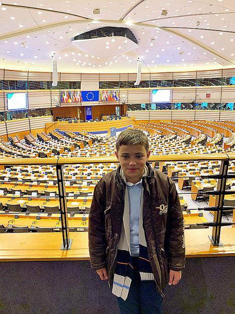 Sergio en el Parlamento Europeo.