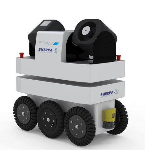 Sherpa Mobile Robotics equipa sus robots móviles con un dispositivo de desinfección de superficies por vía aérea (ASD)
