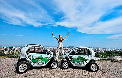 Barcelona Verde: Tours guiados en coche eléctrico hasta la Torre de Collserola