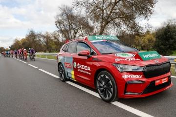 El Skoda Enyaq iV protagonista en la etapa final de la Vuelta