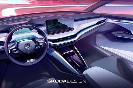 Diseño interior completamente nuevo en el Skoda Enyaq iV