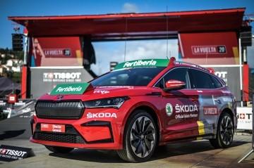 El Skoda Enyaq iV protagonista de la Vuelta