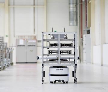 Skoda Auto usa un robot de transporte totalmente autónomo