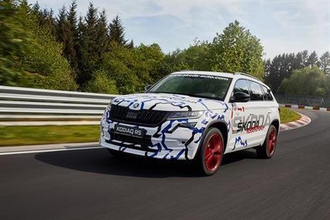 El nuevo Skoda Kodiaq RS vuelta de récord en Nürburgring