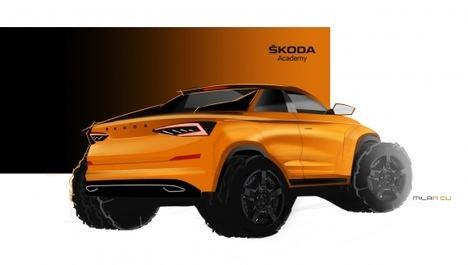 El prototipo de los estudiantes de Skoda será un Pick up derivado del Kodiaq