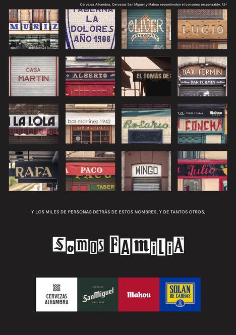 #SOMOSFAMILIA: La unión de Alhambra, Mahou, San Miguel y Solán de Cabras para poder ayudar más