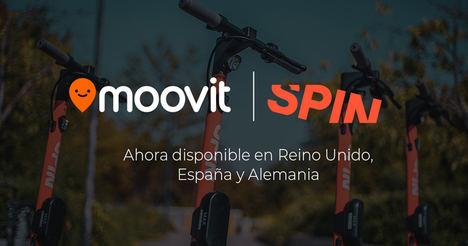 Spin se integra en Moovit para ofrecer una alternativa de movilidad eléctrica compartida a sus usuarios