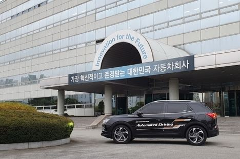 SsangYong prueba su tecnología de vehículo autónomo nivel 3