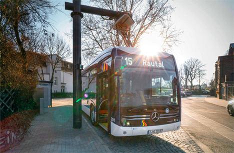 Seguimiento de las estaciones de carga de la flota de buses eléctricos de la ciudad de Jena
