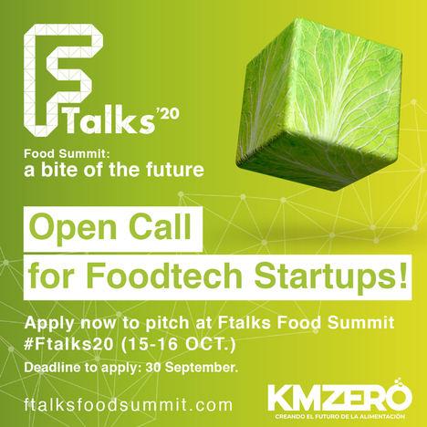 KM ZERO lanza una convocatoria para premiar a las dos mejores startups de alimentación en Ftalks'20