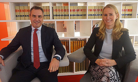 Stephanie Zweifel e Ignacio Salvatierra, AON España.