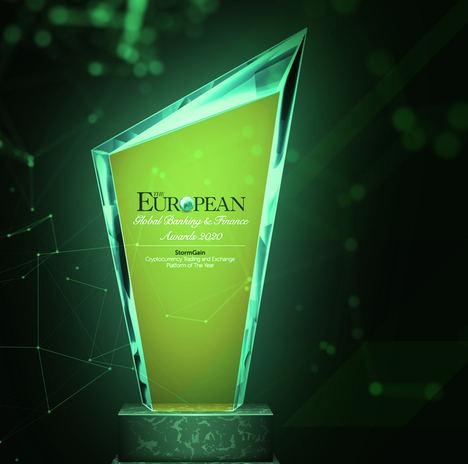 StormGain nombrada 'Plataforma de Trading y Exchange del Año' por The European