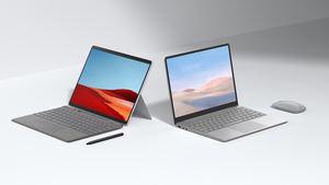 Surface Laptop Go y Surface Pro X print.