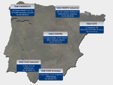 TAB Spain aumenta su cobertura con nuevos centros logísticos