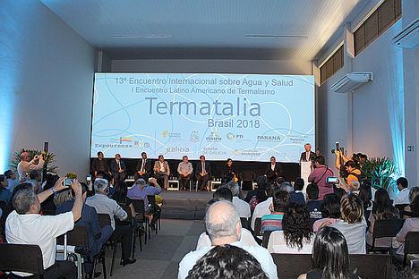 El XIII Encuentro Internacional sobre Agua y Salud posiciona a Termatalia Brasil 2018 como foro mundial de conocimiento en el sector
