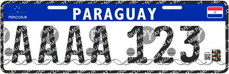 Paraguay introduce la placa vehicular MERCOSUR
