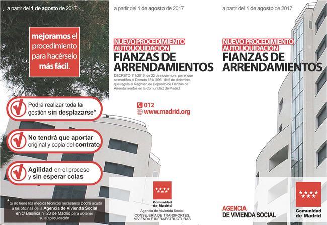 La Comunidad De Madrid Mejora El Procedimiento De Autoliquidación De Fianzas De Alquileres Con Un Nuevo Sistema Más ágil Y Sin Desplazamientos Economía De Hoy