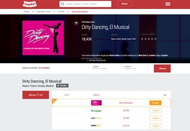 Taquilla.com vende más de 10 millones de euros en entradas en 2016