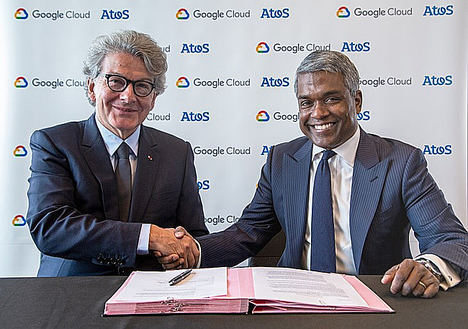 Thierry Breton, Presidente y CEO de Atos y Thomas Kurian, CEO de Google Cloud.