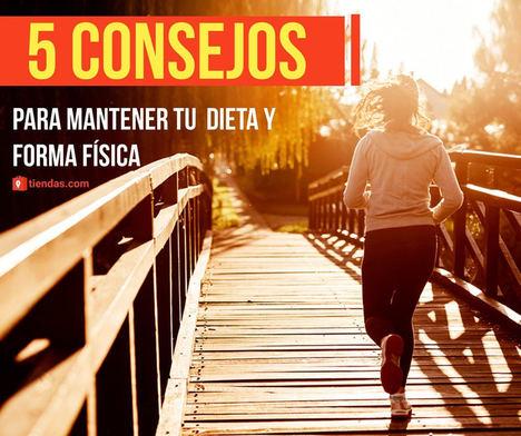 Tiendas.com ofrece 5 consejos para llevar el plan de ejercicios y dieta por el buen camino