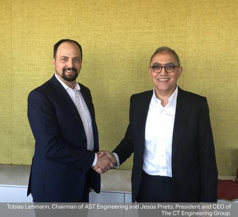 Tobias Lehmann, Chairman de AST Engineering y Jesús Prieto, Presidente y CEO del grupo CT.