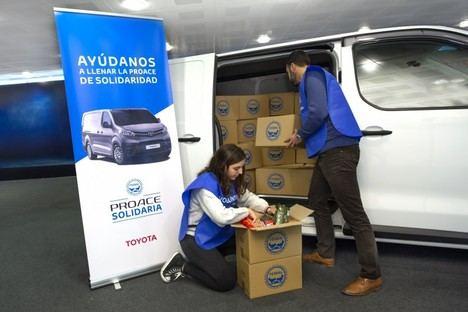 Los Concesionarios de Toyota recogen más de 10 toneladas de comida