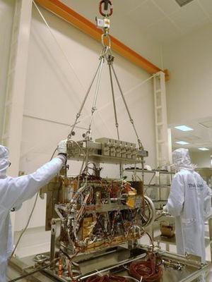 Traslado del laboratorio analítico de ExoMars.