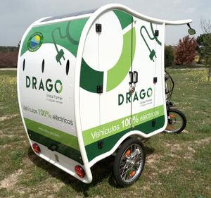 Triciclo Drago placas fotovoltaicas.