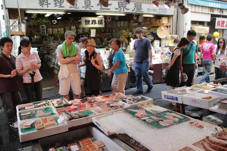 Tsukiji Fish Market.