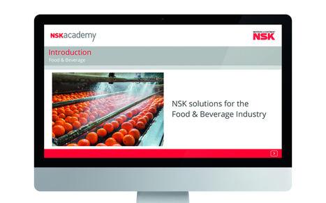 NSK academy incorpora el módulo de formación online para aplicaciones del sector de alimentación y bebidas